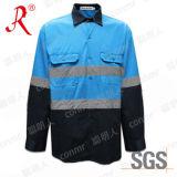Hola camisa Vis de seguridad con cinta reflectante 3M (QF-570)