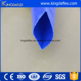 Mangueira azul do PVC Layflat da cor para a descarga da água