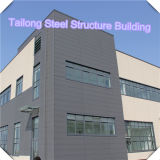工場プレハブの軽い鉄骨フレームの構造の建物