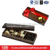 カスタム甘味を加えたチョコレートのペーパーギフト用の箱
