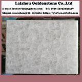 磨かれた表面の平板の水晶白く白い大理石のタイル