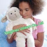 Jouet confortable mou de peluche de chèvre de noir de moutons de peluche de la CE