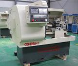 Torno do CNC com o controlador do CNC de GSK