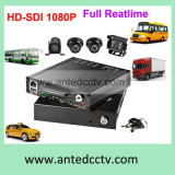 Drive duro 4CH 1080P Mobile DVR H. 264 Vehicle Alarm Monitoring Solution System