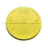 Cobertura de poço circular resistente com quadro redondo