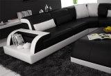 Hauptmöbel-neues Entwurfs-Wohnzimmer-Leder-Sofa eingestellt (HC1093)