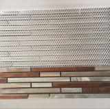 Heet verkoop het Roestvrij staal Gemengde Marmeren Mozaïek van de Tegel van de Muur van de Strook