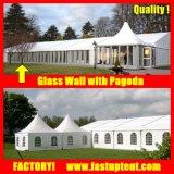 Tente d'événement de chapiteau de noce de mur en verre avec la pagoda