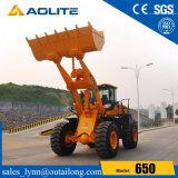 carregador chinês 650 da máquina da construção do carregador da roda 5ton Zl50