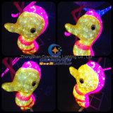 Indicatore luminoso di nuovo anno di natale del cavallo di mare del fumetto LED