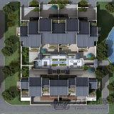 3D建築視覚化の建物の平面