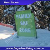 Bandera de encargo de la tela de acoplamiento de la publicidad al aire libre, bandera del acoplamiento del abrigo de la cerca