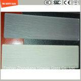 4-19mm ont gâché la glace UV-Résistée par texture en bois pour les meubles extérieurs