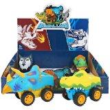 プラスチック動物の漫画の恐竜のワニ車のおもちゃ