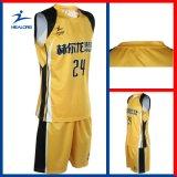 Het Overgebrachte Gele en Zwarte Eenvormige Basketbal van Healong Hitte