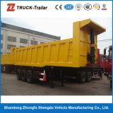 중국 세 배 차축 25m3--반 37m3 옆 덤프 트레일러 또는 반 팁 주는 사람 트럭 트레일러