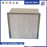 Van een flens voorzien met Filter van de Lucht van de Efficiency van de Dakspaan de Midden