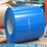 Le roulis en acier coloré a enduit la bobine d'une première couche de peinture en acier PPGI pour le matériau de construction