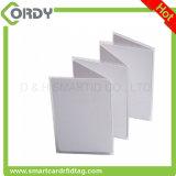 Branco lustroso do espaço em branco do cartão do PVC do revestimento 125kHz EM4200 da impressão térmica