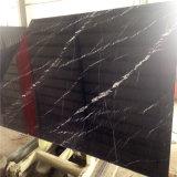 Pietra bianca nera del marmo della banda, marmo nero, marmo d'argento del drago