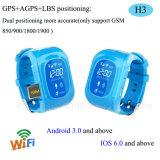 Kinder GPS-Verfolger-Uhr mit dem realen Karten-Gleichlauf (H3)