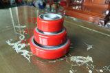 Echador del eslabón giratorio con base de arrabio de la rueda de la PU