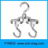 L'aimant de bac de néodyme accroche des crochets d'acier de /Magnetic