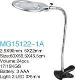 lupa de Stander LED del vector del clip de 5X22mm/2.5X90m m LED