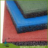 Patio al aire libre del azulejo de goma