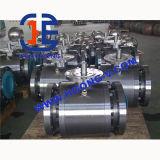 Válvula de esfera pneumática montada eixo da flange 304 de API/DIN/JIS