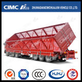 Nouveau Type Cimc Huajun 3axle Cargo/Stake Side Tipping Semi Trailer