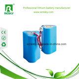 íon recarregável de Li da bateria de lítio 18650 de 11.1V 6200mAh