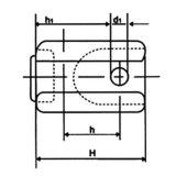 Aislador de alto voltaje del retén para las líneas (54-1)