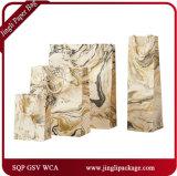 Sacchetti ambientali di lusso del sacchetto di acquisto di Vienna dei clienti del panno del sacco di carta del sacchetto nero & bianco del regalo