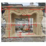 Camino di marmo beige della decorazione della casa di prezzi più bassi (SY-MF118)