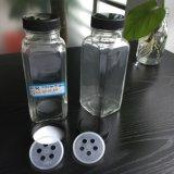 Frascos da especiaria, 100ml frascos de vidro da especiaria 8oz de 4 onças (120ml) com Fitment do abanador de 5 furos