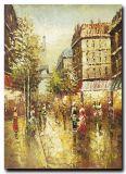 La pintura artística fábrica de pintura impresionista mayor directo de la calle de París óleo de la lona