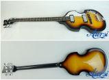 Basse 4-String électrique Shaped de violon Sunburst d'Aiersi