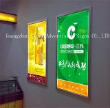 A pressão fixada na parede de alumínio da caixa leve molda o frame do poster