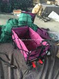Vagão de dobramento com roda de freio e correia de segurança