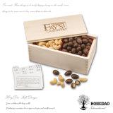 Hongdao kundenspezifischer hölzerner süsser Kasten für Imbiss-Plätzchen-Großverkauf mit Firmenzeichen _E