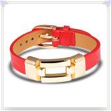 De Armband van het Leer van de Juwelen van het Leer van de Armband van het roestvrij staal (LB286)