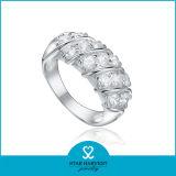 Rhodium Charming che placca l'anello dell'argento sterlina 925 per lo sconto (R-0193)