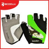 Kundenspezifisches Breathable Ineinander greifen-halbe Finger-Fahrrad-Handschuhe für das Gewicht-Anheben