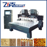 두 배 Z 축선 목제 CNC 대패 기계를 가진 8개의 스핀들