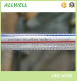 PVC 플라스틱 유연한 뜨개질을 한 투명한 명확한 관 섬유에 의하여 강화되는 정원 호스