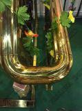 金カラーのステンレス鋼の管