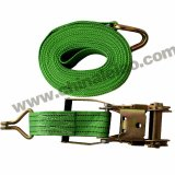 """длина 10m Materail 2 """" &50mm: Цвет PP: Зеленый TUV аттестовал храповик связывает вниз, ограничения планки груза, храповик хлеща, хлестать груза"""