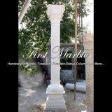 Witte Marmeren Kolom voor Decoratie mcol-307 van het Huis