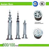 Obenliegender Aluminiumleiter-Stahl verstärktes Kabel ACSR